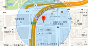 Googleマップに、GPSを使って現在位置(と誤差を表す円)を表示するサンプル
