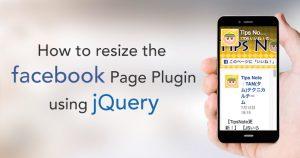FacebookのPage Pluginをリサイズに対応させる